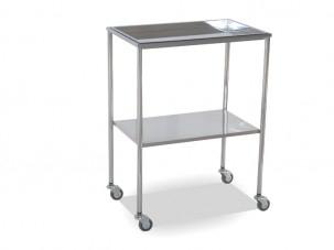 Mesa auxiliar cromada con bandeja superior mesas y - Mesa auxiliar bandeja ...