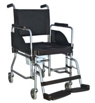 Silla de inodoro de interior comfort plegable sillas con for Sillas para inodoros