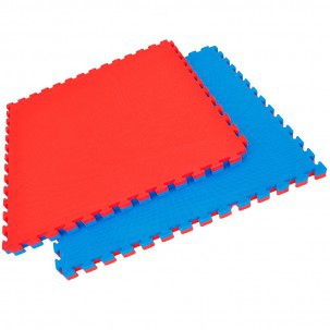 Tatami puzzle reversible color azul rojo grosor 2 5 cm - 1m2 en cm ...
