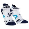 ÚLTIMAS UNIDADES - Compressport Pro Racing Scoks V2.1 - Calcetines Ultratécnico Bajo Run Low - Color Blanco-Azul (talla T4)