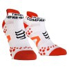 Compressport Pro Racing Scoks V2.1 - Calcetines Ultratécnico Bajo Run Low - Color Blanco-Rojo