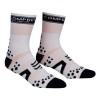 Oferta Final Temporada - Calcetines Ultratécnico Alto Compressport Pro Racing Socks V2 Bike - Color Blanco-Negro