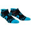 ÚLTIMAS TALLAS - Compressport Pro Racing Socks V2 Run Low Cut - Calcetines Ultratécnico Bajo - Color Negro-Azul - Talla T1 (34-36 cm)