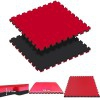 Tatami Puzzle Reversible Kinefis Color Negro - Rojo (grosor 20 mm)