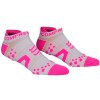 Oferta Final Temporada - Compressport Pro Racing Socks V2 Run Low Cut - Calcetines Ultratécnico Bajo - Color Blanco-Rosa