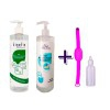 Pack Gel Hidroalcohólico Familiar: Kinefis Raer (500ml) + Kinefis Perfumado (500ml) + Kinefis Kids (500ml) + pulsera recargable con bote dosificador de regalo