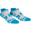Oferta Final Temporada - Compressport Pro Racing Socks V2 Run Low Cut - Calcetines Ultratécnico Bajo - Color Blanco-Azul