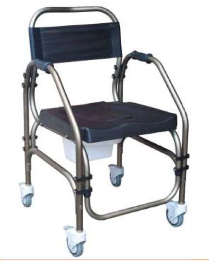 Silla de inodoro de interior comfortlight con ruedas sillas con inodoro e inodoro y ducha - Silla de ruedas con inodoro ...