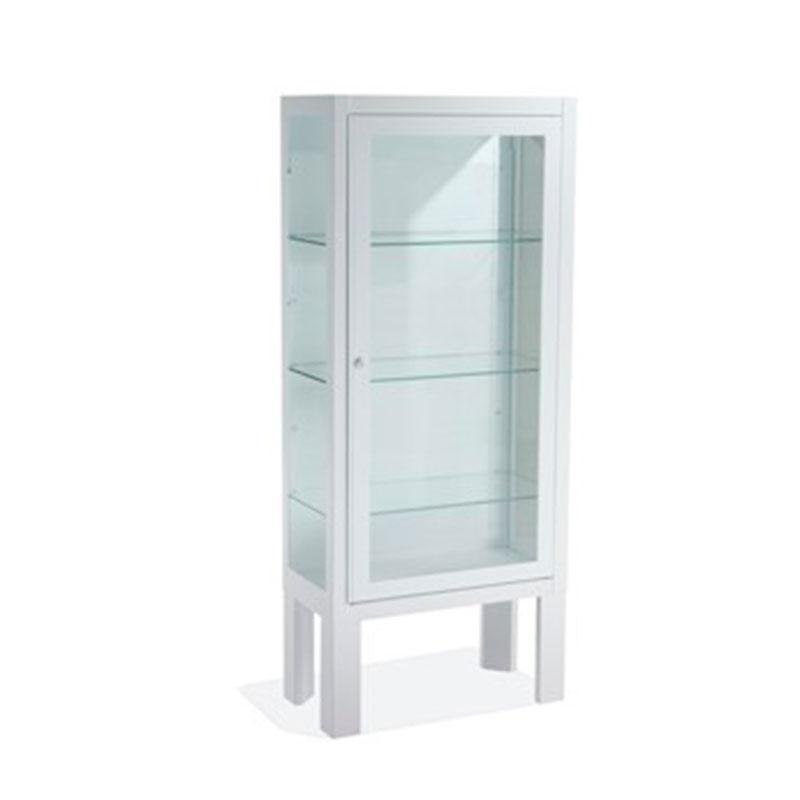 Vitrina con pie una puerta blanca vitrinas mobiliario for Puerta blanca cristal