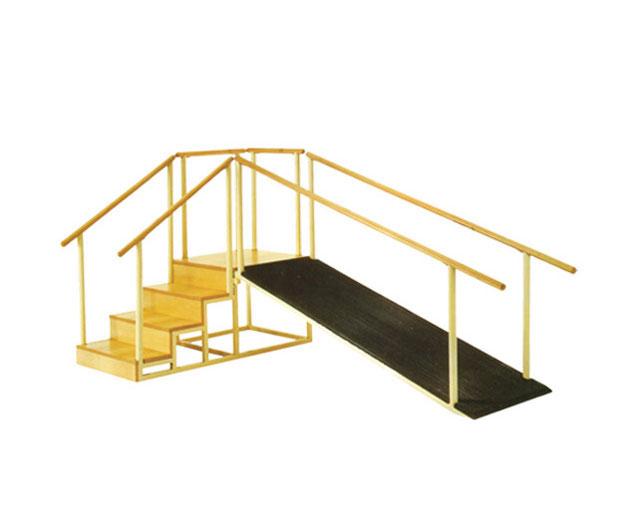 Escalera con plano inclinado estructura de acero 5 for Plano escalera madera