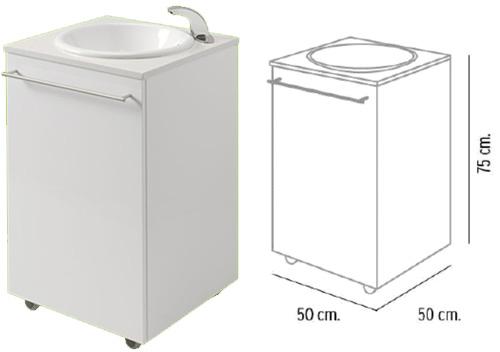Lavamanos compacto port til lavabos fijos y port tiles mobiliario cl nico tienda fisaude - Lavabo portatil ...
