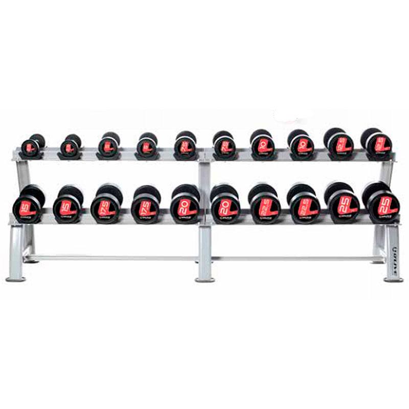 Mueble rack para mancuernas pro syte 10 pares mancuernas for Mueble rack